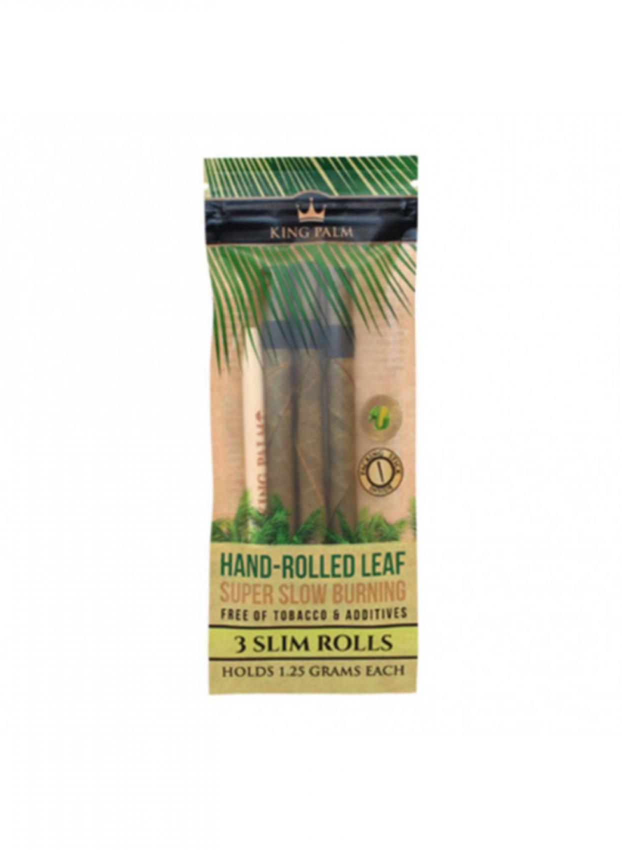 King Palm Slim Rolls 3x Hand Rolled Leaf