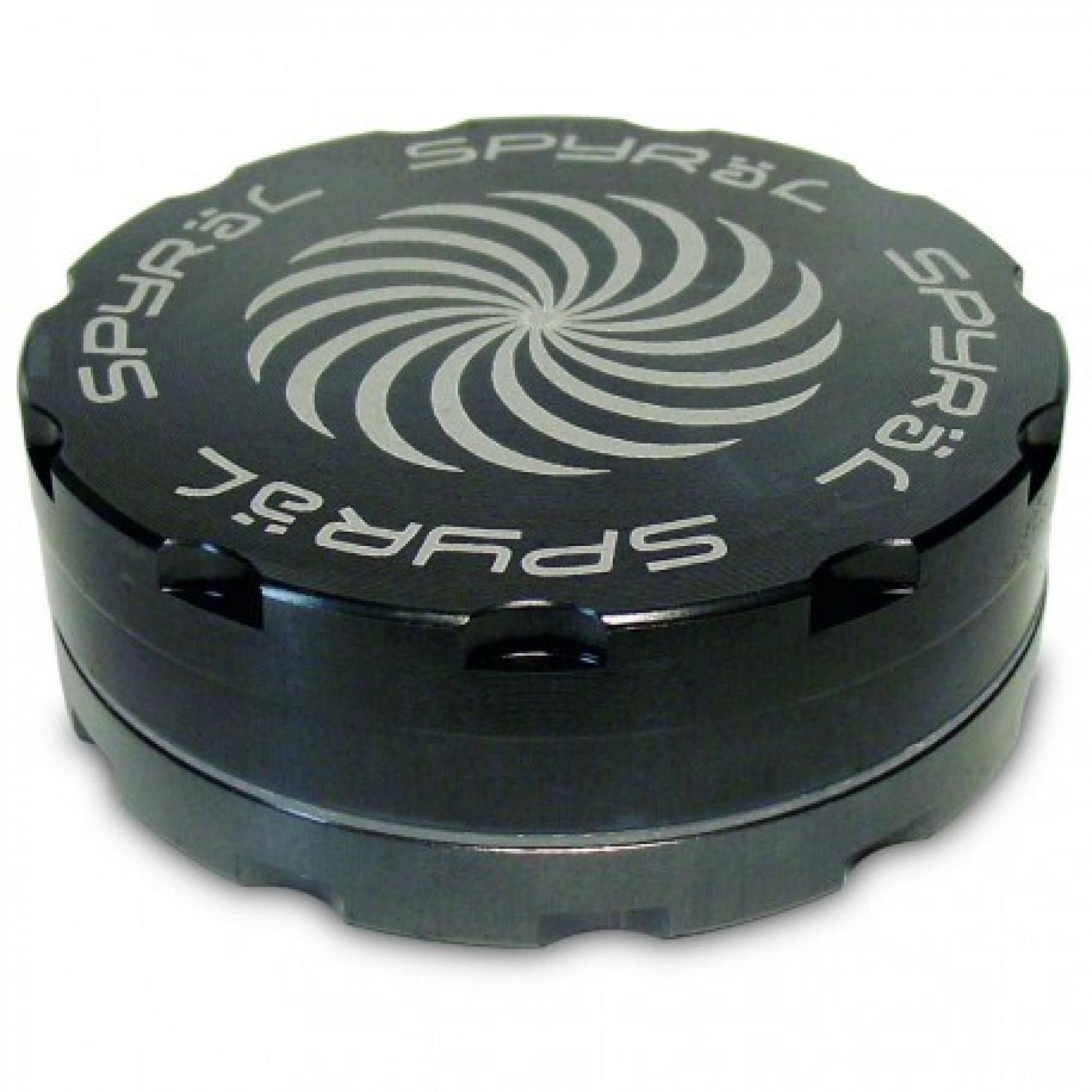 Spyräl Grinder 62mm black 2- part