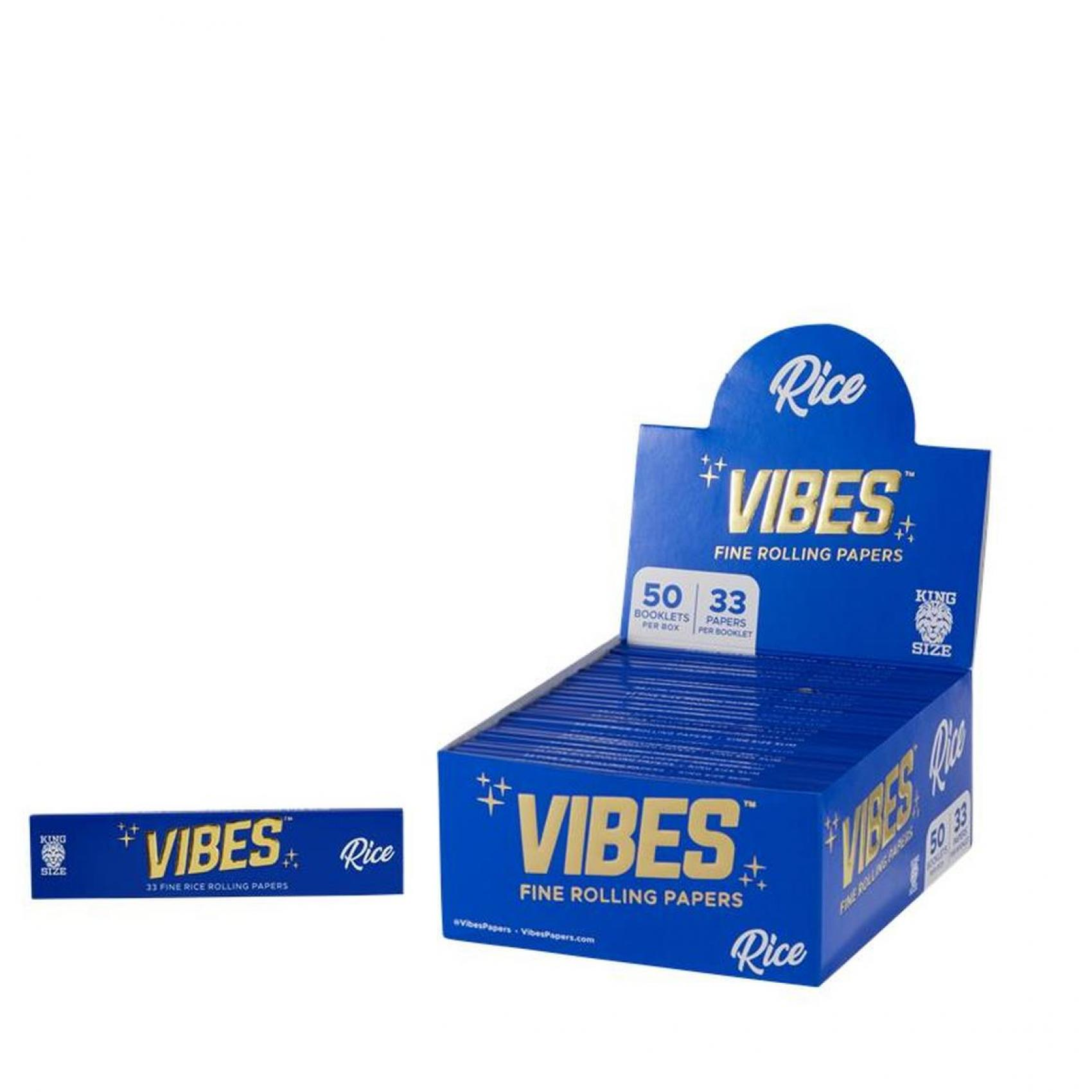 VIBES RICE PAPERS - KING SIZE SLIM